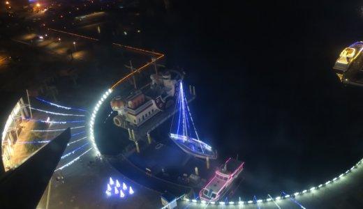 【ラグナシア】観覧車から見るイルミネーションの夜景は最高!三河湾の夜景が絶景でした